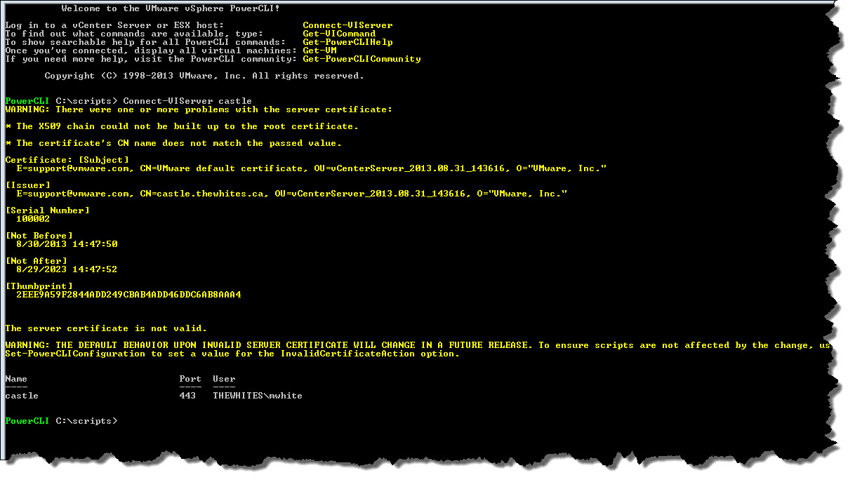 PowerCLI Series – Getting Started – 2013 edition – Notes from MWhite