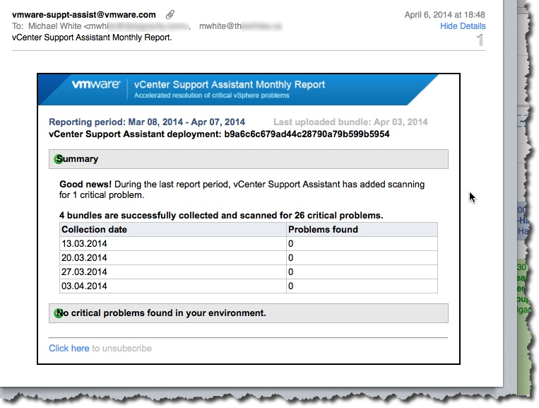 ReportEmail screen