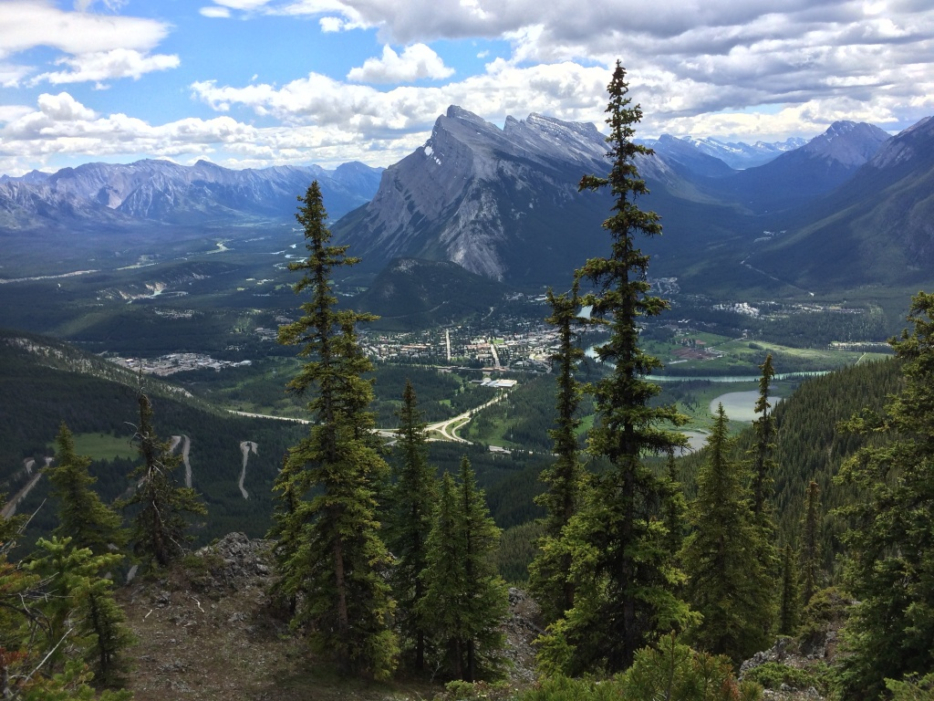 Looking towards Banff Alberta