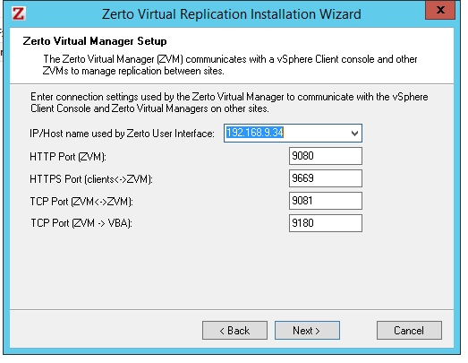 Install / Configure Zerto – for local replication – Notes from MWhite