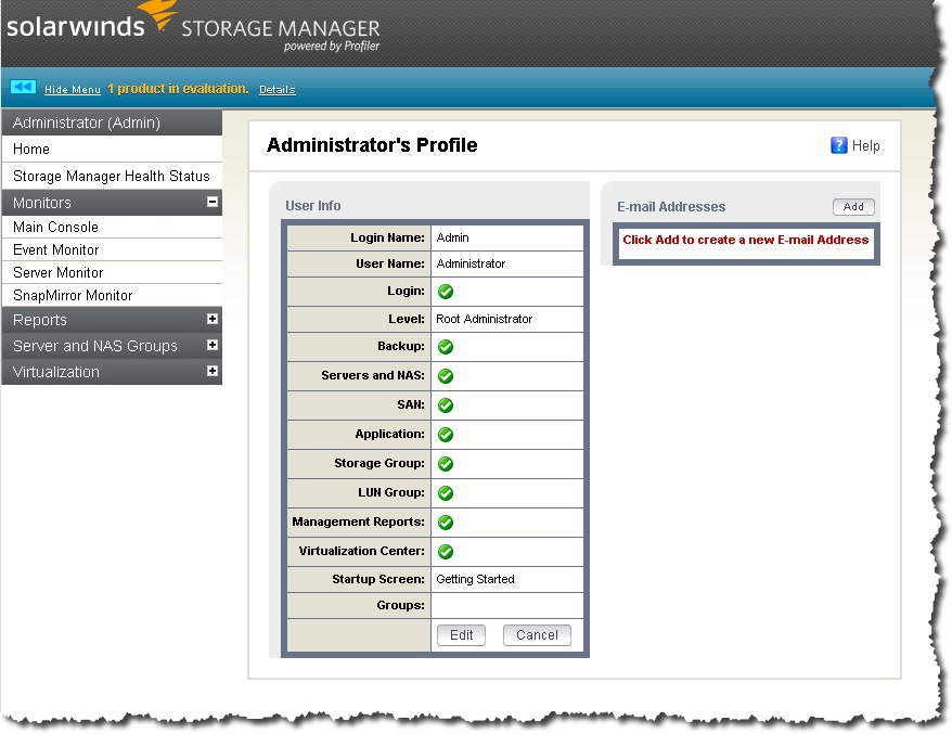 Install and Configure of SolarWind's Storage Manager – Notes from MWhite