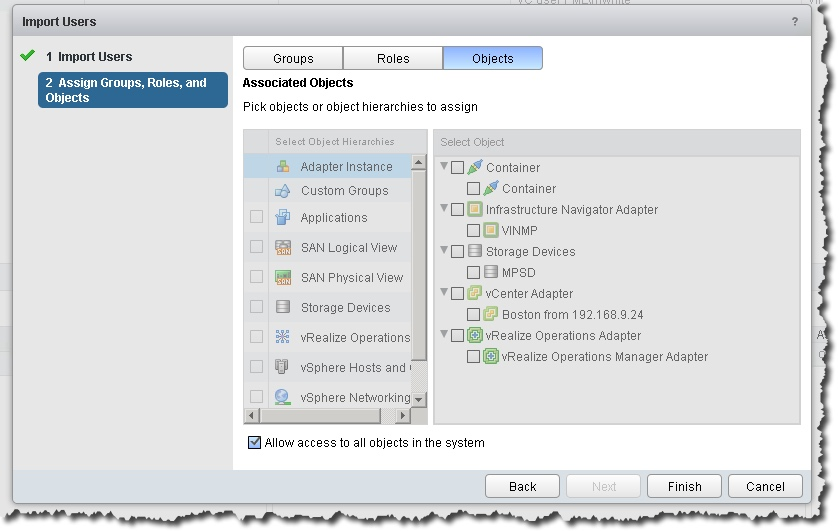 Add a Read Only account to vRealize Operations v6 – Notes