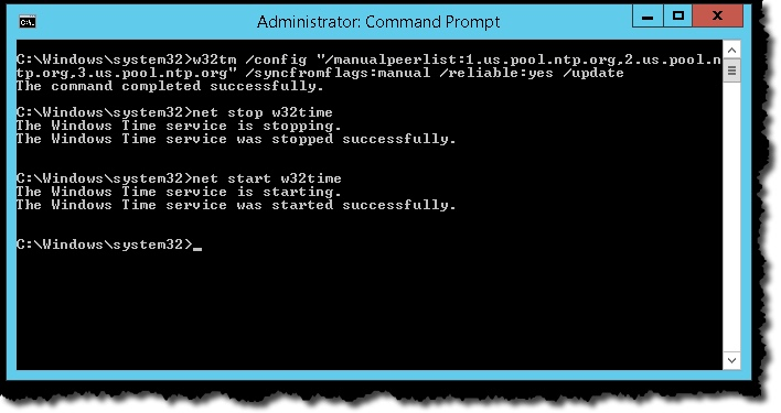 Configuring Time in Active Directory – Notes from MWhite