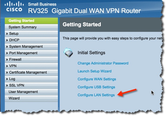 Install and configure of the Cisco RV325 Firewall – Notes from MWhite