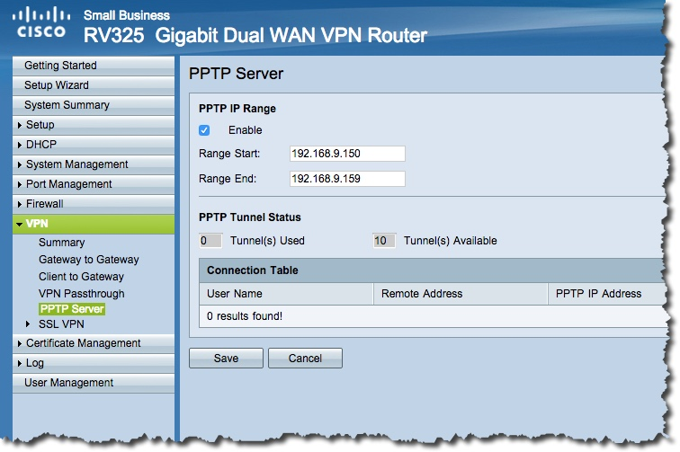 Enable VPN to the home lab – on RV325 – the wrong way