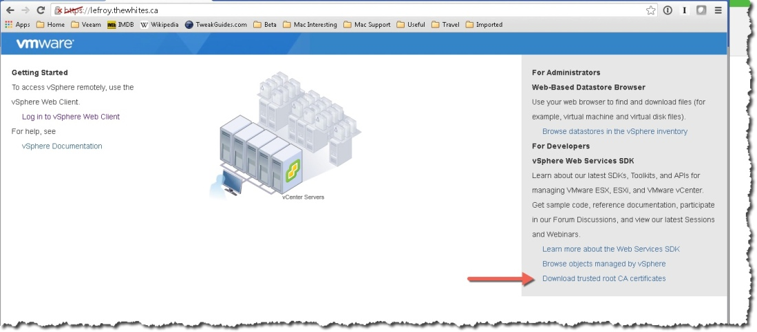 Avoid extra clicks accessing vCenter! – Notes from MWhite