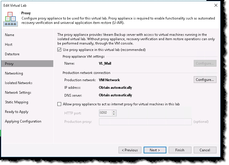 Veeam Virtual Labs can verify your Backups! – Notes from MWhite