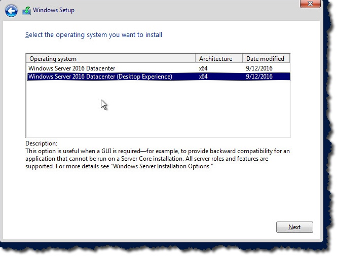 How to build a Windows 2016 VMware Template – Notes from MWhite