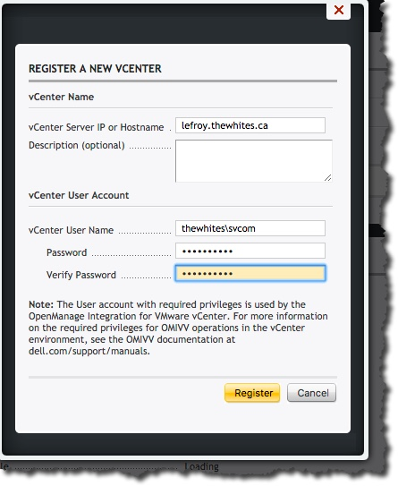 How to install and configure Dell OpenManage Integration for vCenter