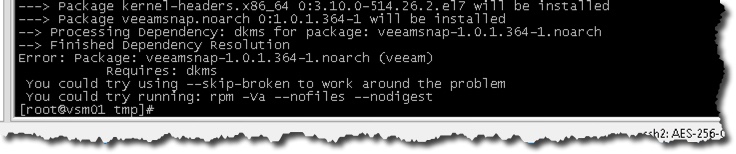 Installing Veeam Agent for Linux – Notes from MWhite