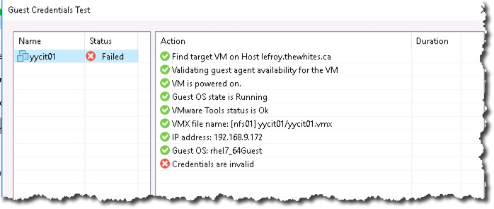 In a Veeam backup job when you enable Indexing on Linux VMs