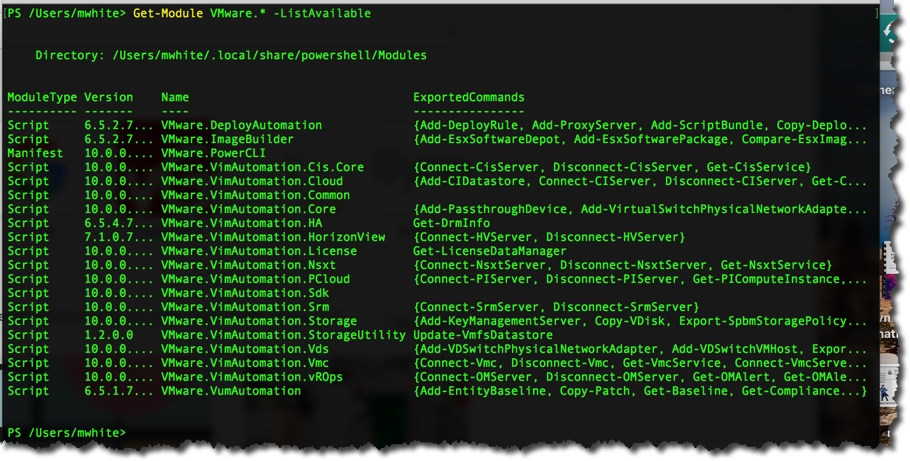 Installing PowerShell / PowerCLI on a Mac – Notes from MWhite