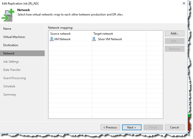 Network remapping with Veeam Backup & Replication – Notes