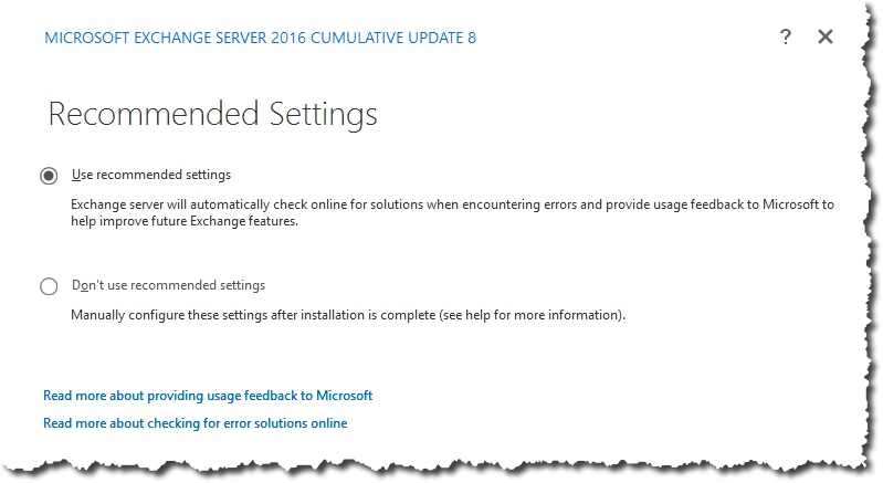 Installing Exchange 2016 in the lab – Notes from MWhite