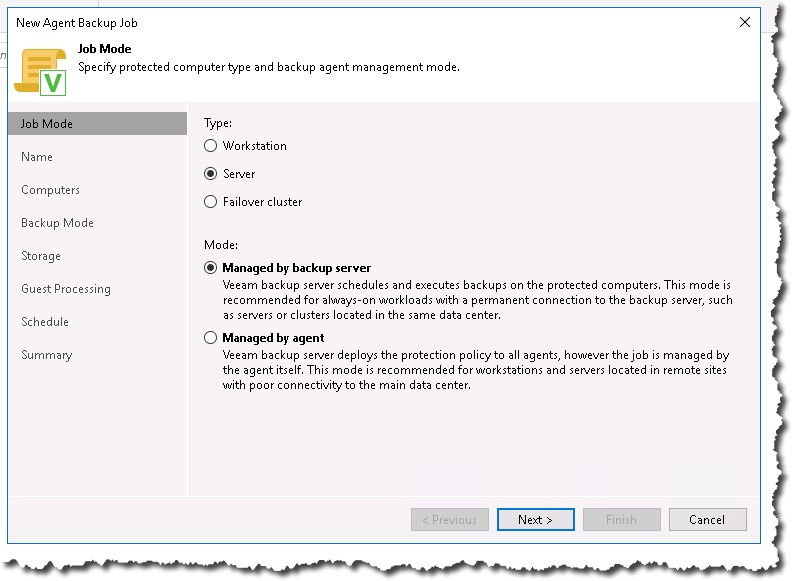 Want to protect a roaming laptop user with Veeam? – Notes